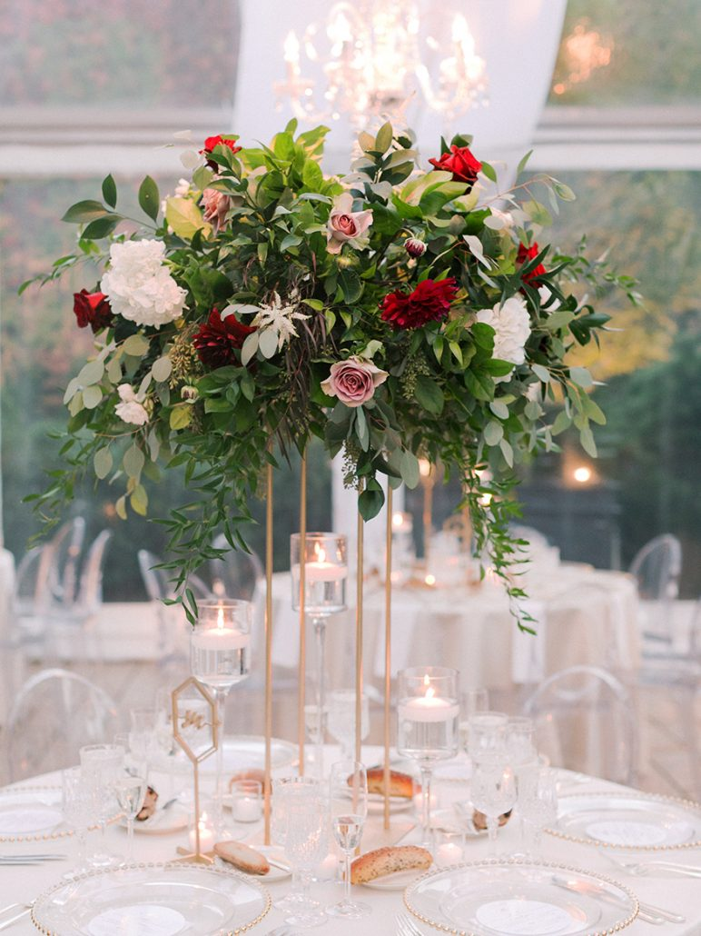 Ana and Jack Wedding - High Centerpiece - The Foundry - Asher Gardner Photography
