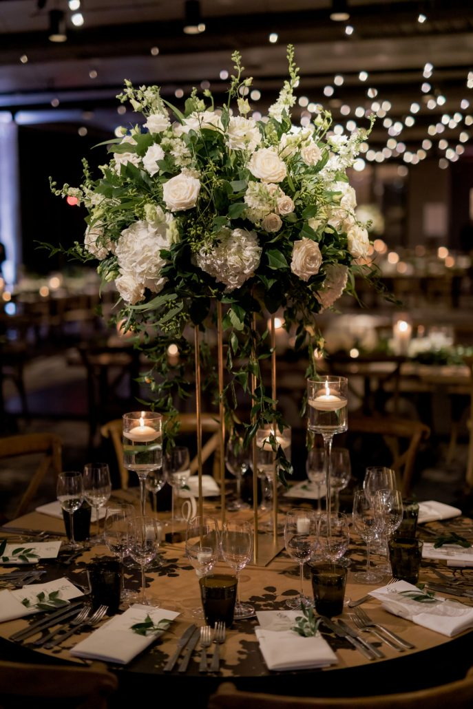 Emily and Felix Wedding - High Centerpiece - 1 Hotel Brooklyn Bridge - Susan Shek Photography