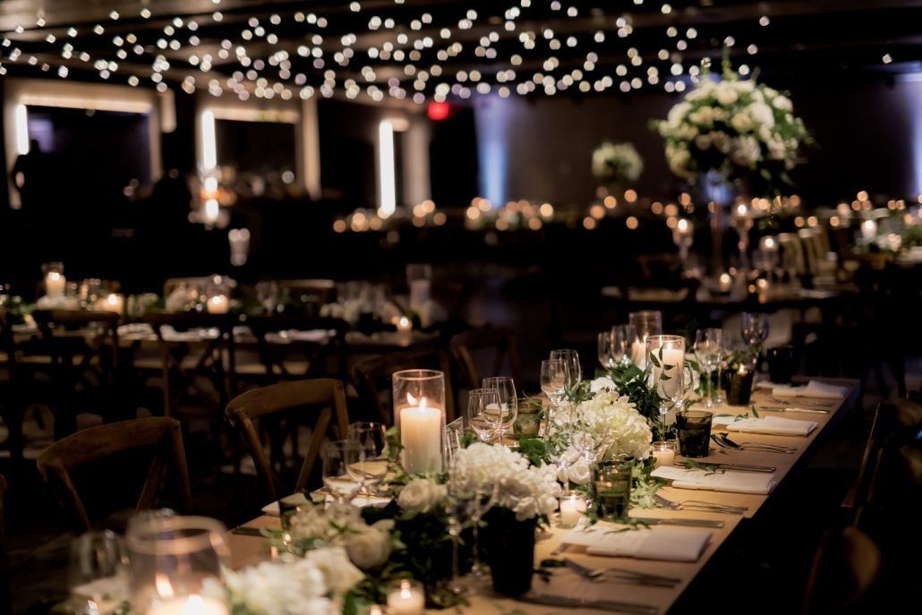 Emily and Felix Wedding - Flower Greenery Garland Tablescape - 1 Hotel Brooklyn Bridge - Susan Shek Photography