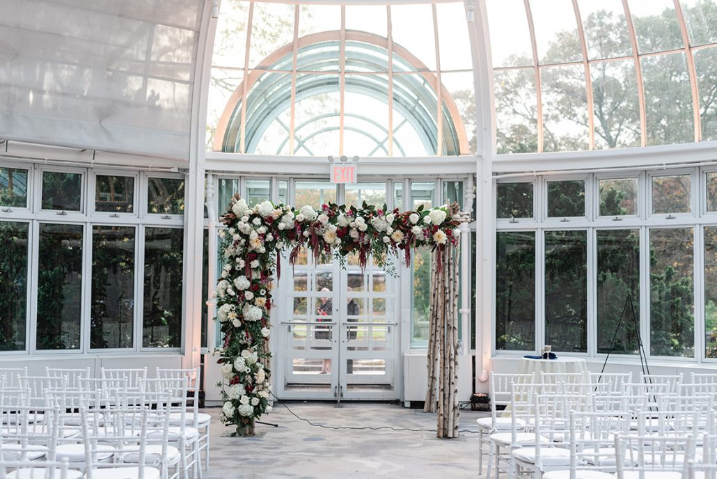 Rachel and Seth Wedding - Chuppah - Brooklyn Botanical Garden - Julia Newman Photography