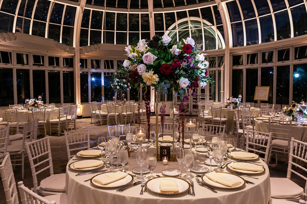 Rachel and Seth Wedding - High Centerpiece - Brooklyn Botanical Garden - Julia Newman Photography