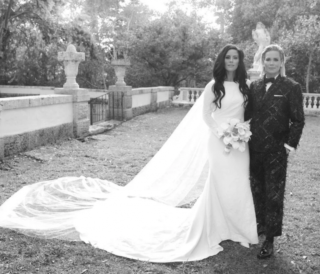 Ali Krieger and Ashlyn Harris Wedding - via vogue.com