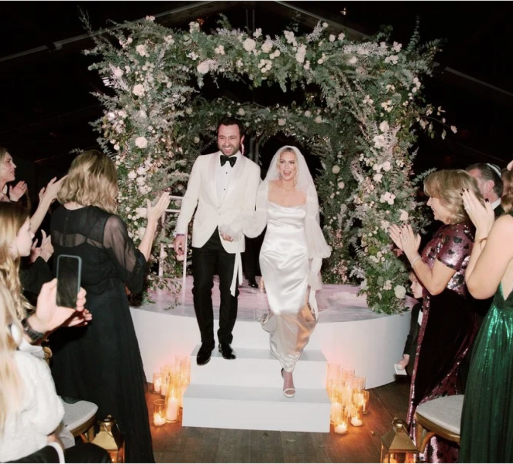 Erin Foster and Simon Tikhman Wedding - via vogue.com