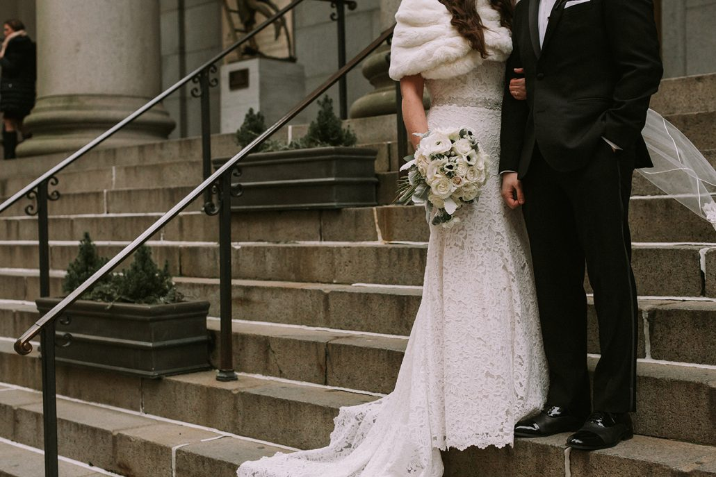 Kelly & Andrew Wedding - Brides Bouquet - Tribeca Rooftop - William Thomas Photography