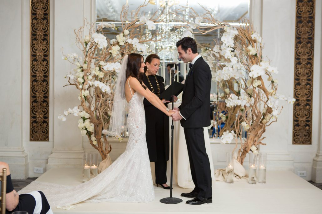 Hannah and Mark Wedding - Brides Dress - St Regis - Shira Weinberger Photography