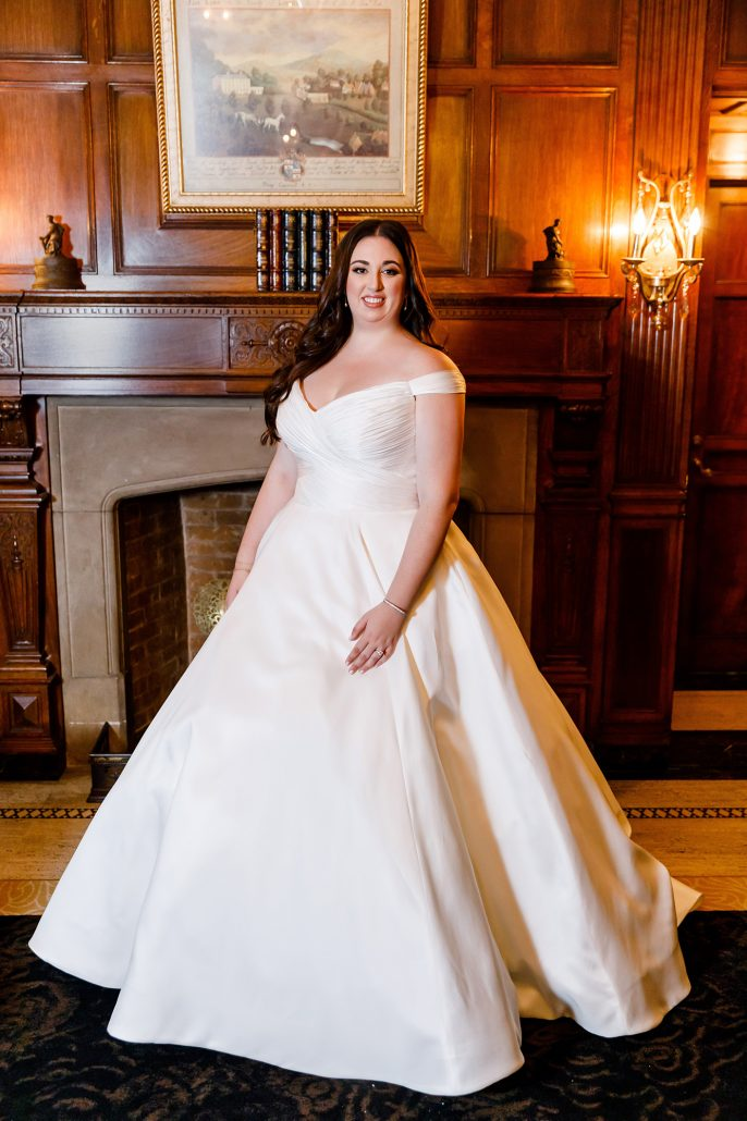 Stefanie and Mike Wedding - Bridal Portrait - Gotham Hall - Emma Cleary Photography