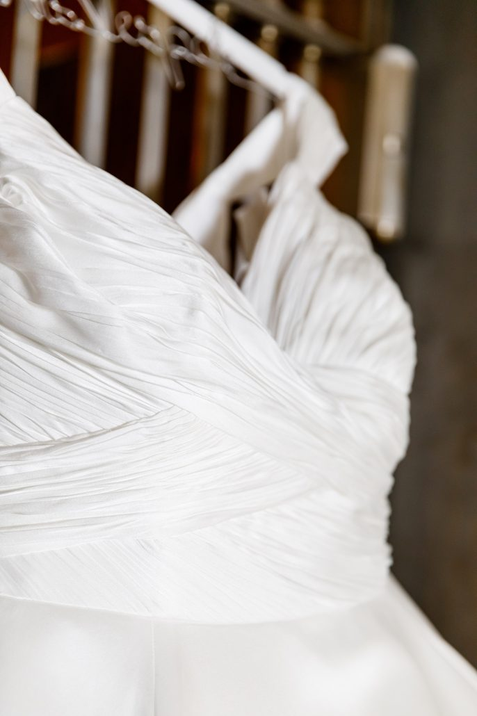 Stefanie and Mike Wedding - Brides Dress Detail - Gotham Hall - Emma Cleary Photography