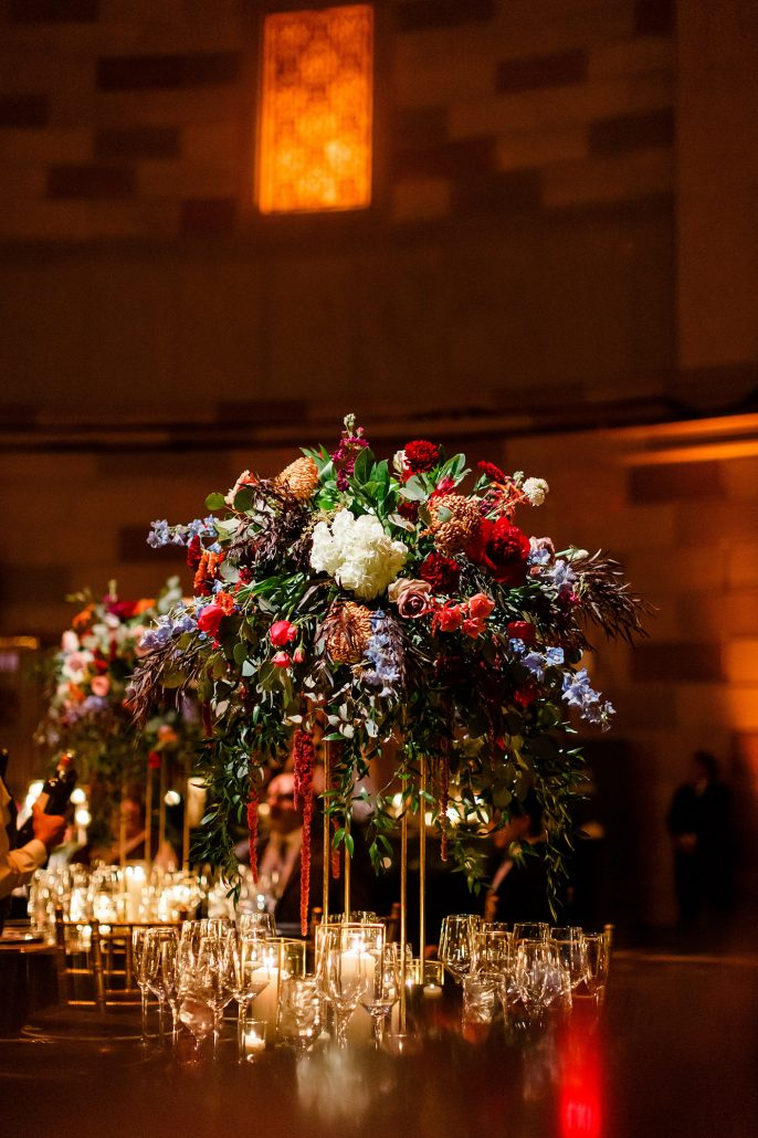 Stefanie and Mike Wedding - High Centerpiece - Gotham Hall - Emma Cleary Photography