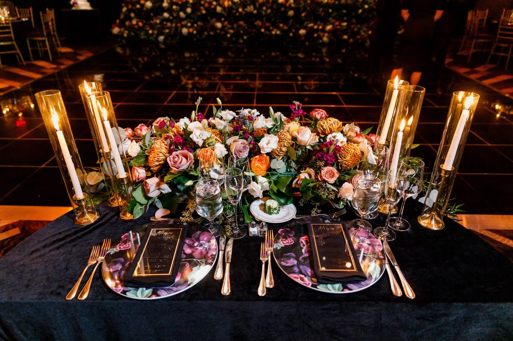 Stefanie and Mike Wedding - Sweetheart Table - Gotham Hall - Emma Cleary Photography