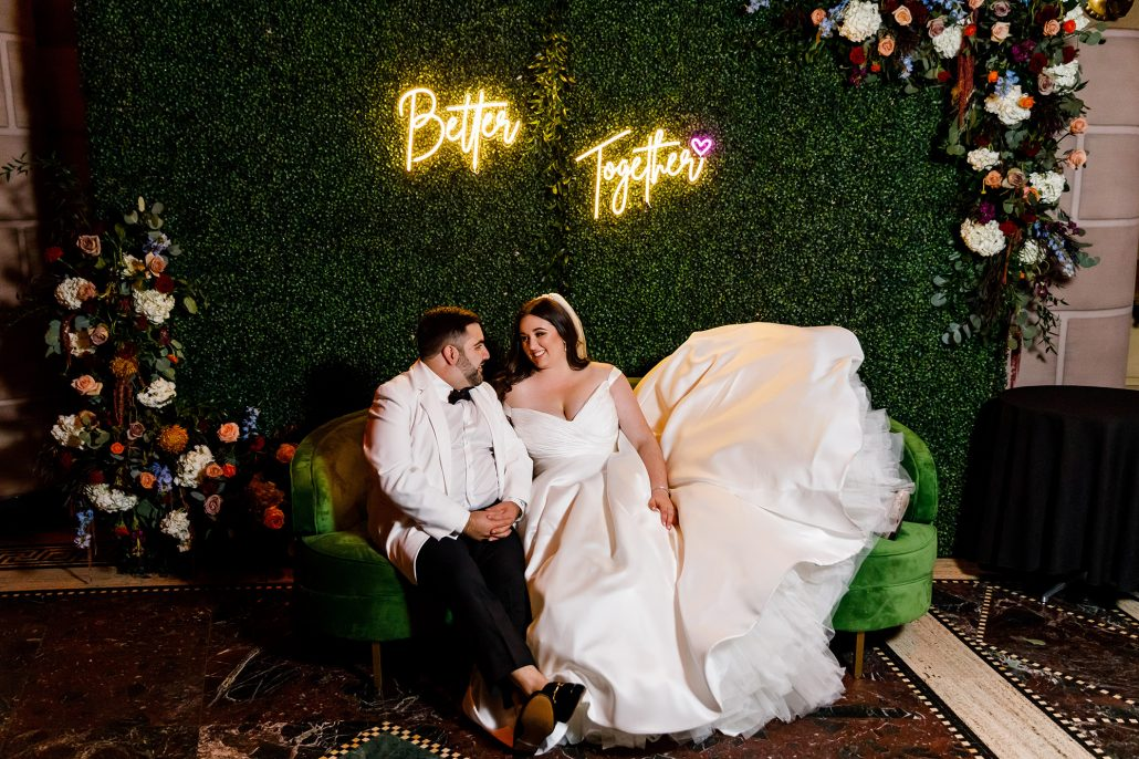 Stefanie and Mike Wedding - Bride and Groom Portrait - Gotham Hall - Emma Cleary Photography