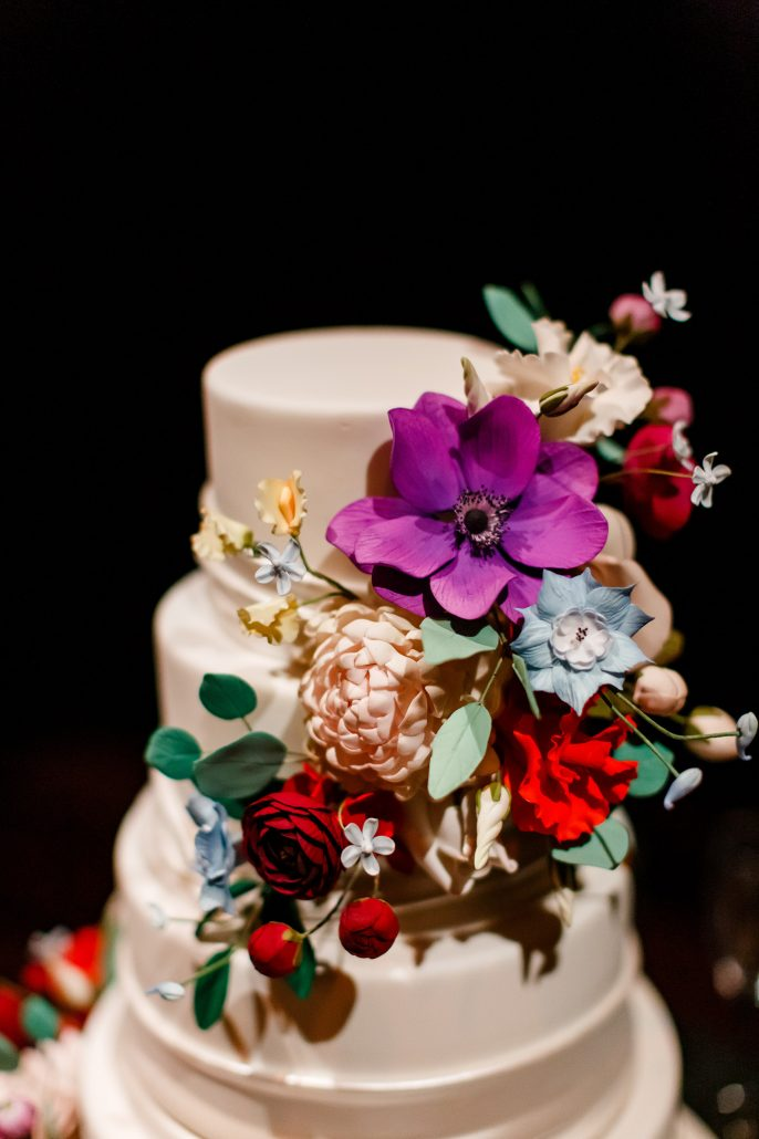 Stefanie and Mike Wedding - Wedding Cake Detail - Gotham Hall - Emma Cleary Photography
