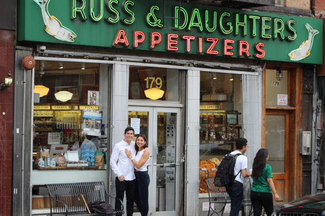 Laura and Charlie Wedding - Proposal at Russ & Daughters - Courtesy of Bride