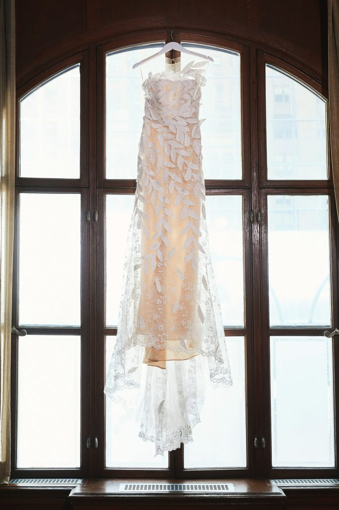 Laura and Charlie Wedding - Brides Dress - Cipriani - Christian Oth Studio