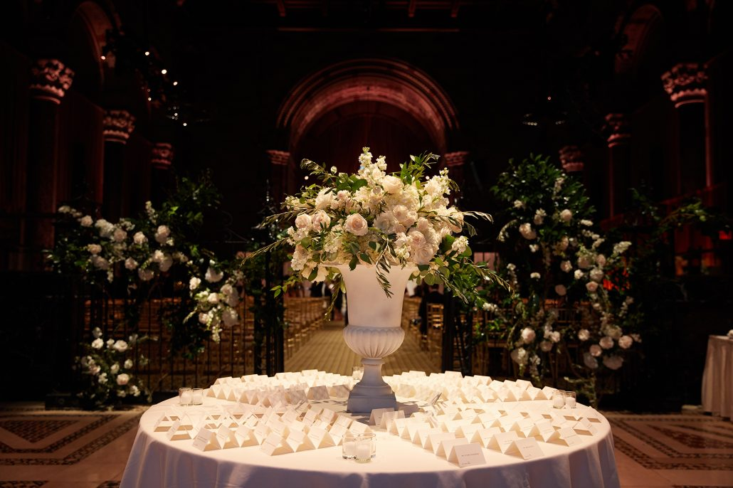 Laura and Charlie Wedding - Card Table - Cipriani - Christian Oth Studio