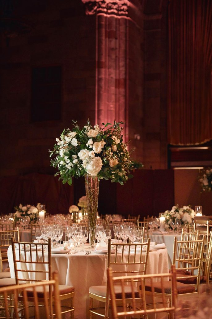 Laura and Charlie Wedding - High Centerpiece - Cipriani - Christian Oth Studio