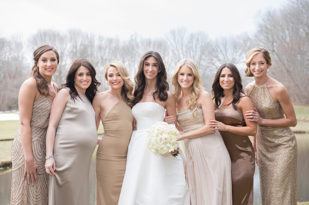 Danielle and Noah Wedding - Bride and Bridesmaids - Cold Spring Country Club - Brett Matthews Photography