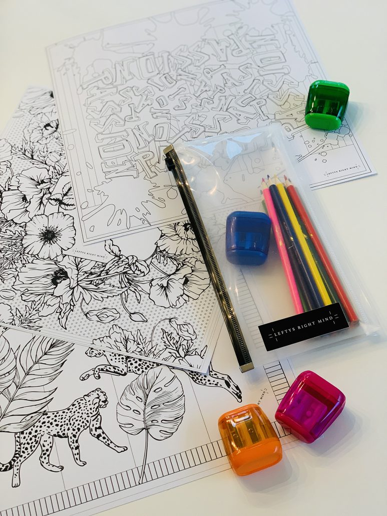 Downloadable Coloring Set - Lefty's Right Mind - courtesy of artist