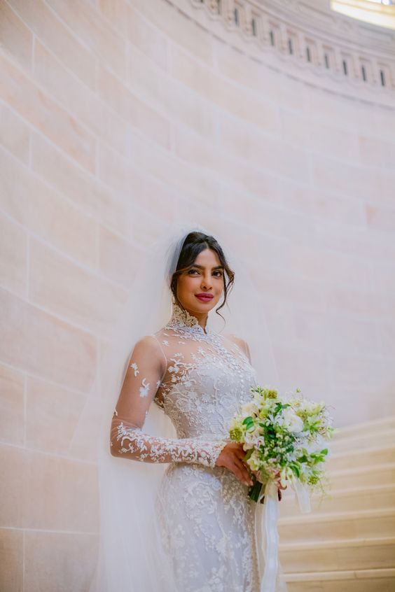 Priyanka Chopra Bouquet - via marthastewartweddings.com
