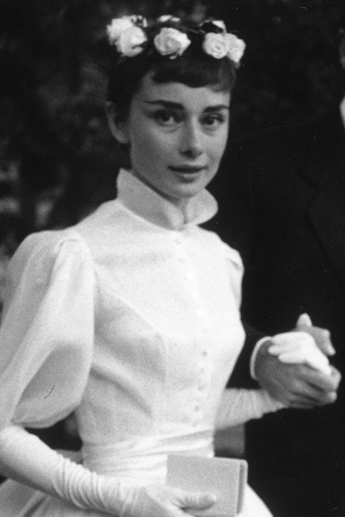 Audrey Hepburn Flower Crown - via harpersbazaar.com