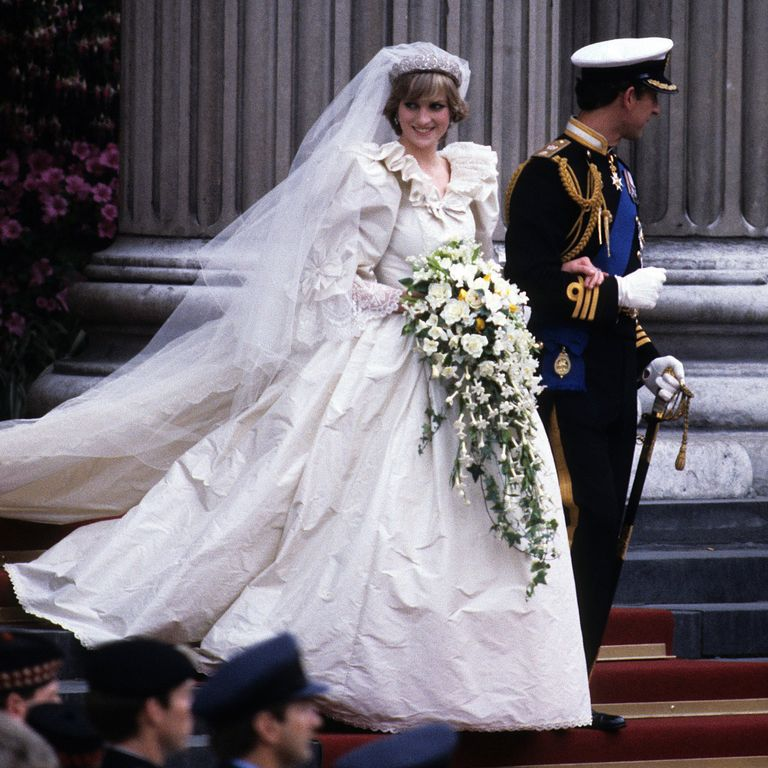 Princess Diana Wedding Bouquet - via goodhousekeeping.com