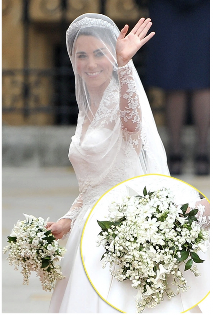 Kate Middleton Wedding Bouquet - via hollywoodlife.com