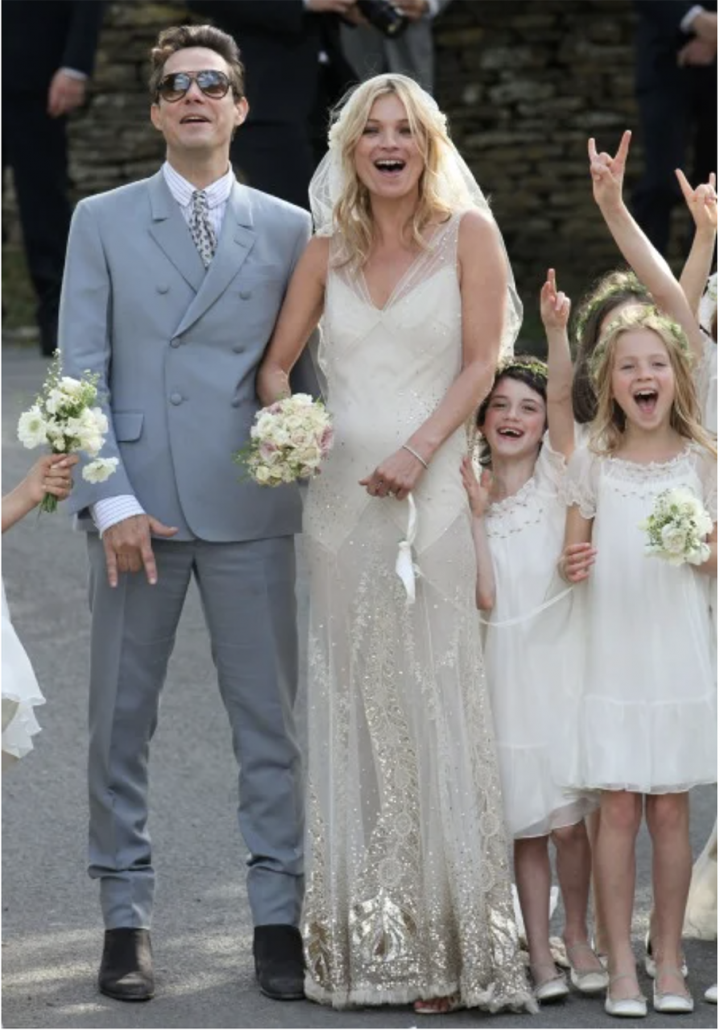 Kate Moss Wedding Bouquet - via glamour.com