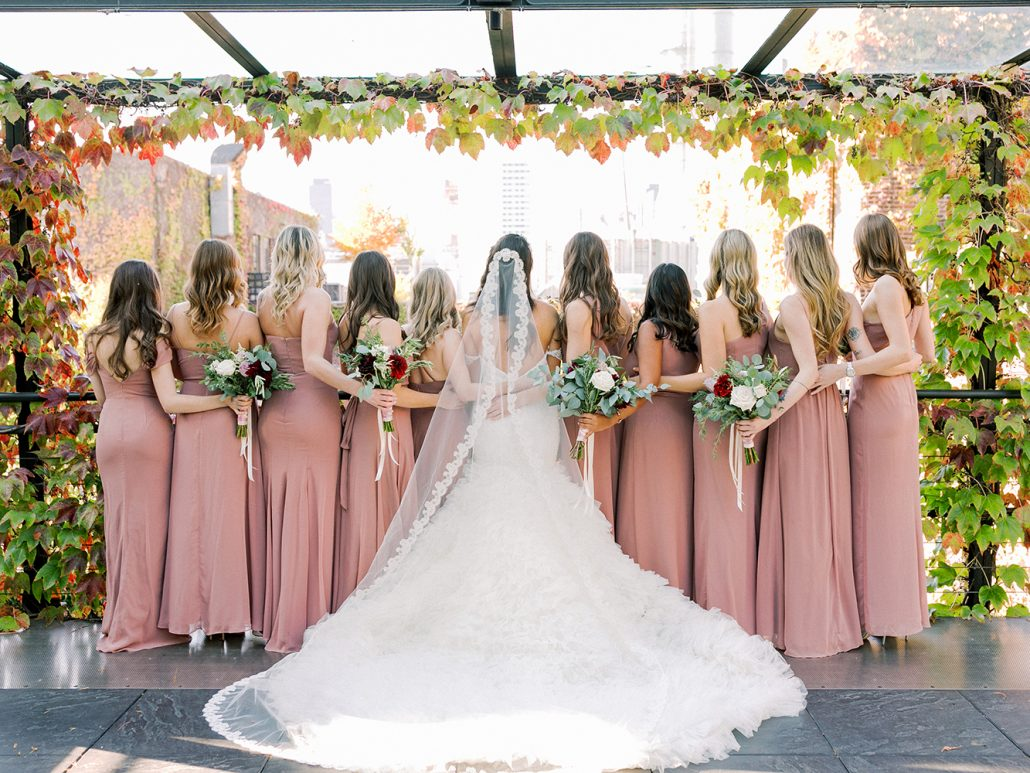 Ana and Jack Wedding - Bride and Bridesmaids Bouquet - The Foundry - Asher Gardner Photography