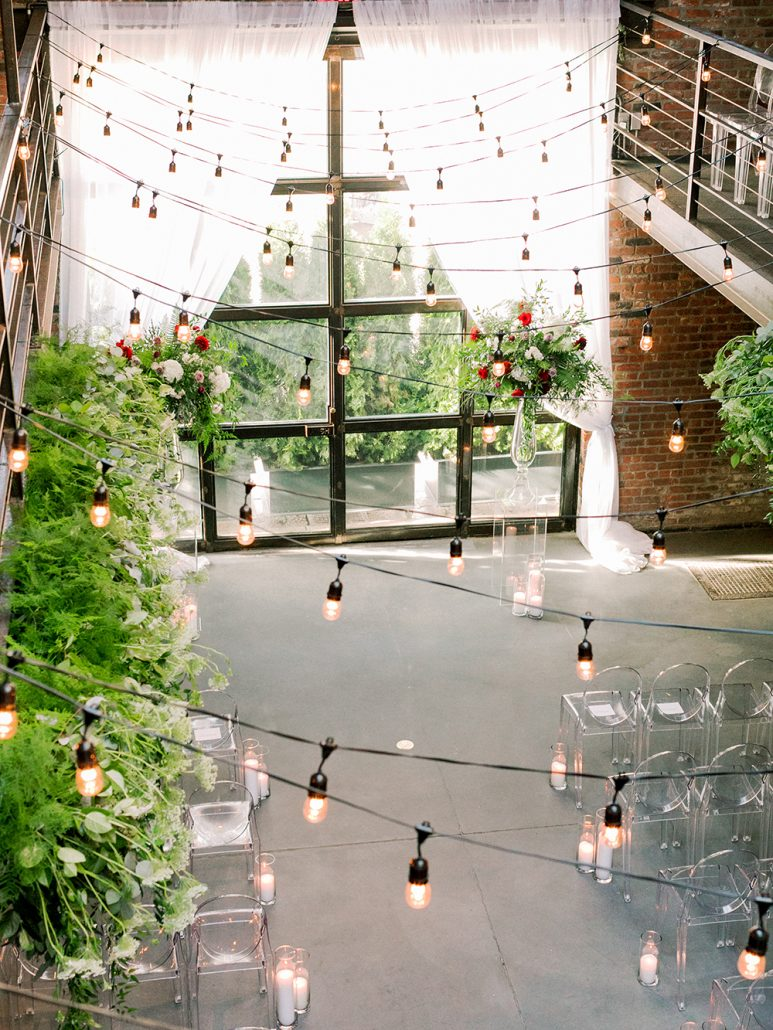 Ana and Jack Wedding - Ceremony and Balcony Arrangement - The Foundry - Asher Gardner Photography