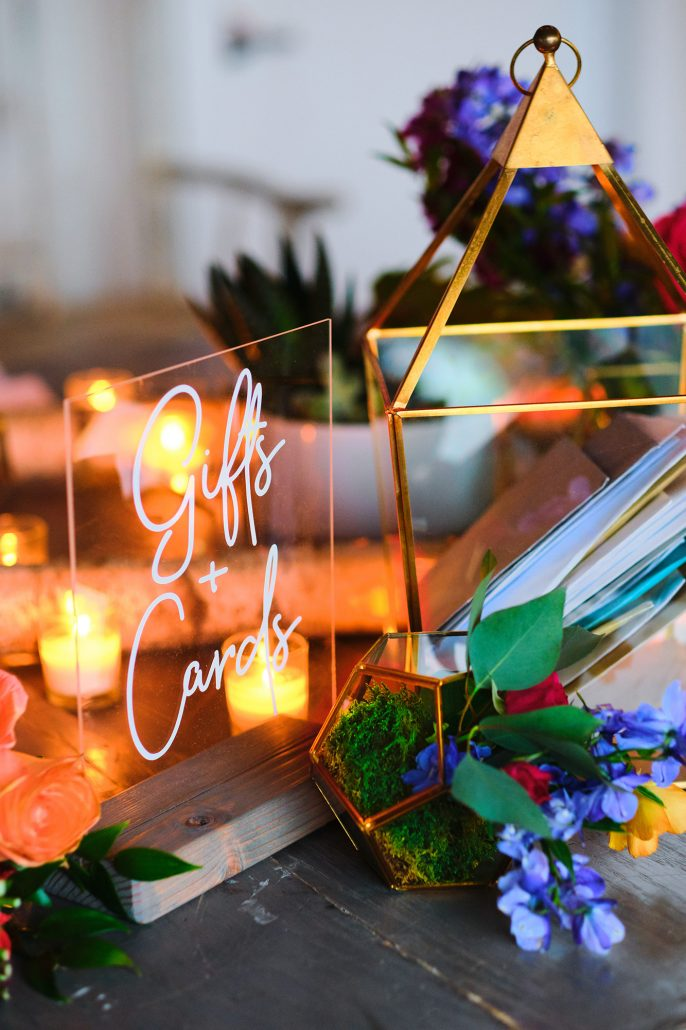 Dayna and Matthew Wedding - Gift Table Display - Gurney's Montauk - Andreas and Nico