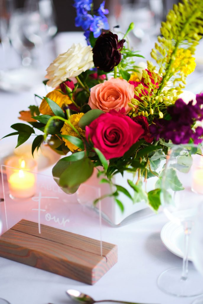 Dayna and Matt Wedding - Low Centerpiece - Gurney's Montauk - Andreas and Nico