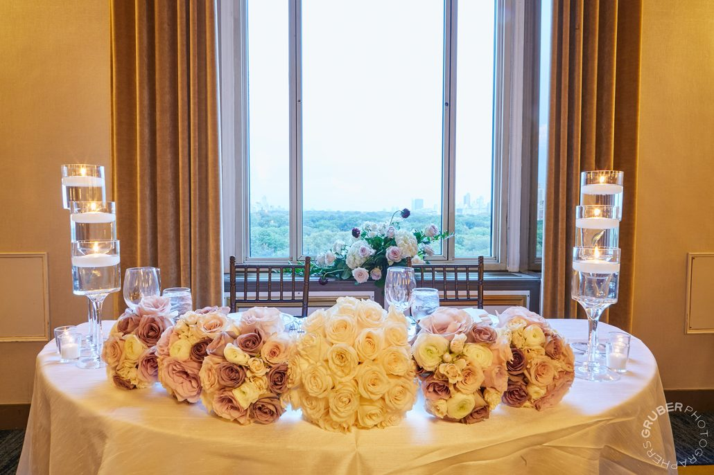 Valeriya and Austin Wedding - Sweetheart Table - New York Athletic Club - Gruber Photographers