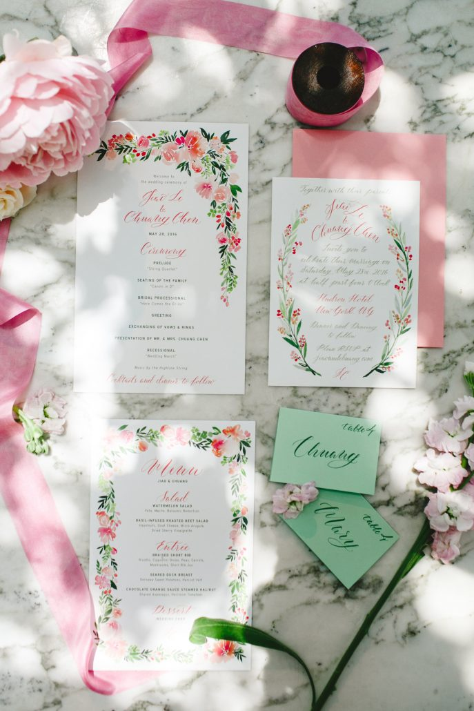 Mary & Galen Wedding - Stationary - Hudson Hotel - Jacquelyne Pierson Weddings