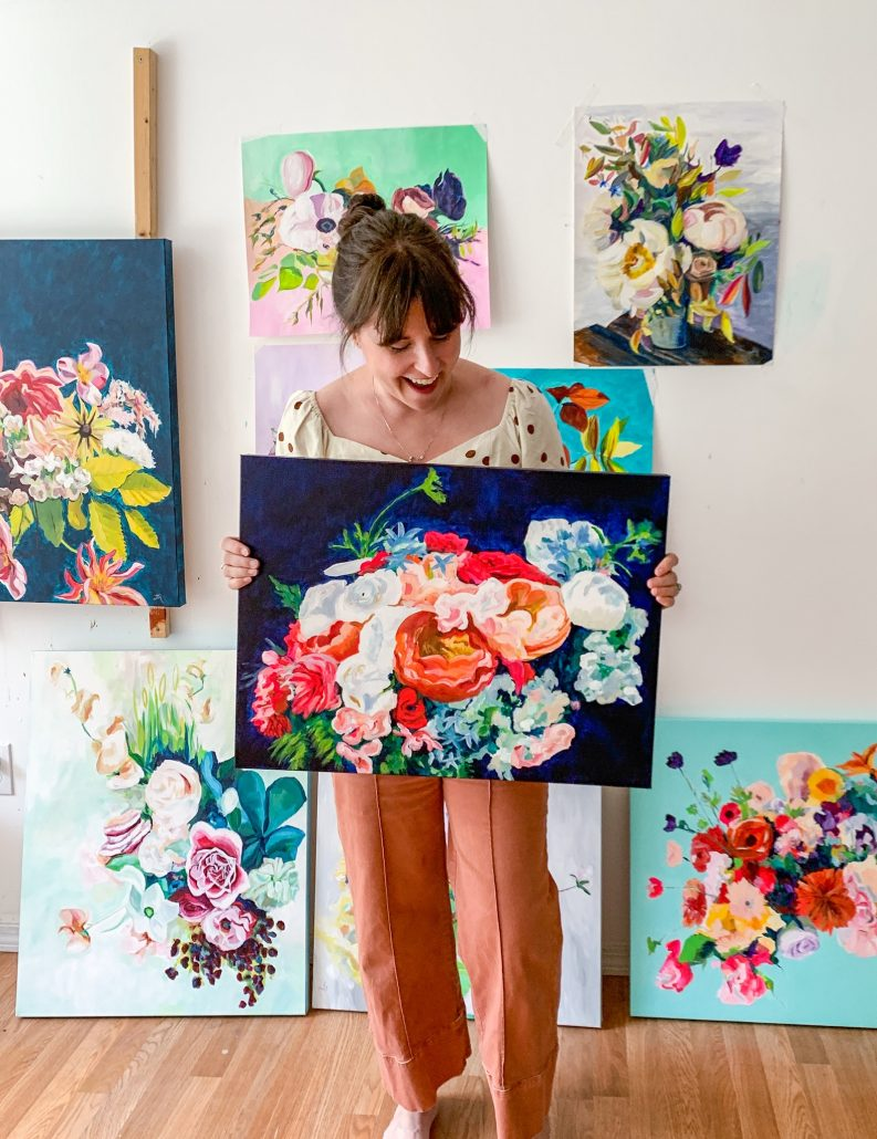 Floral Paintings by Megan Carty - courtesy of artist