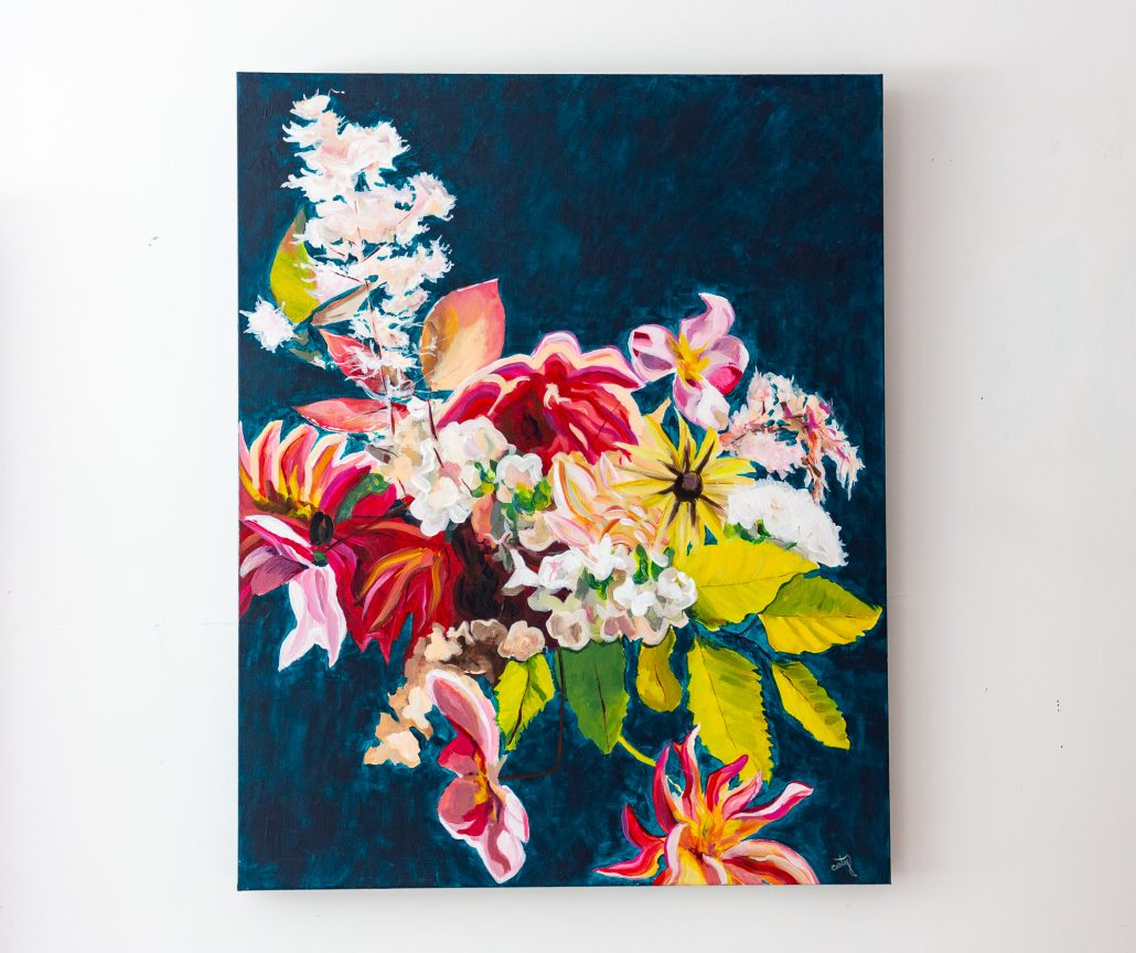Floral Painting by Megan Carty - courtesy of artist