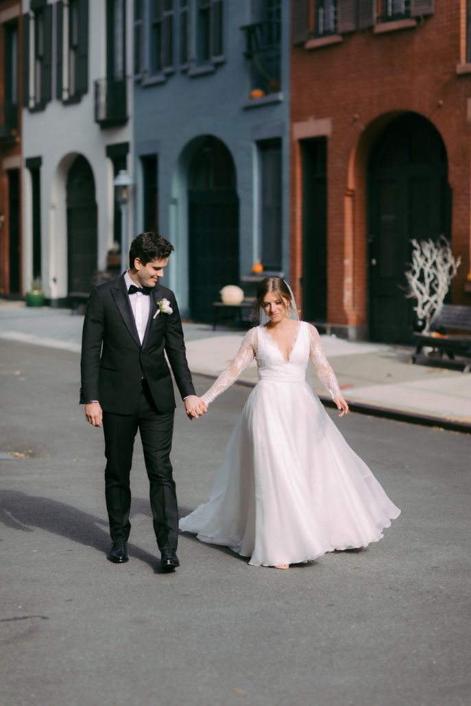 Emily and Felix Wedding - Bride and Groom - 1 Hotel Brooklyn Bridge - Susan Shek Photography