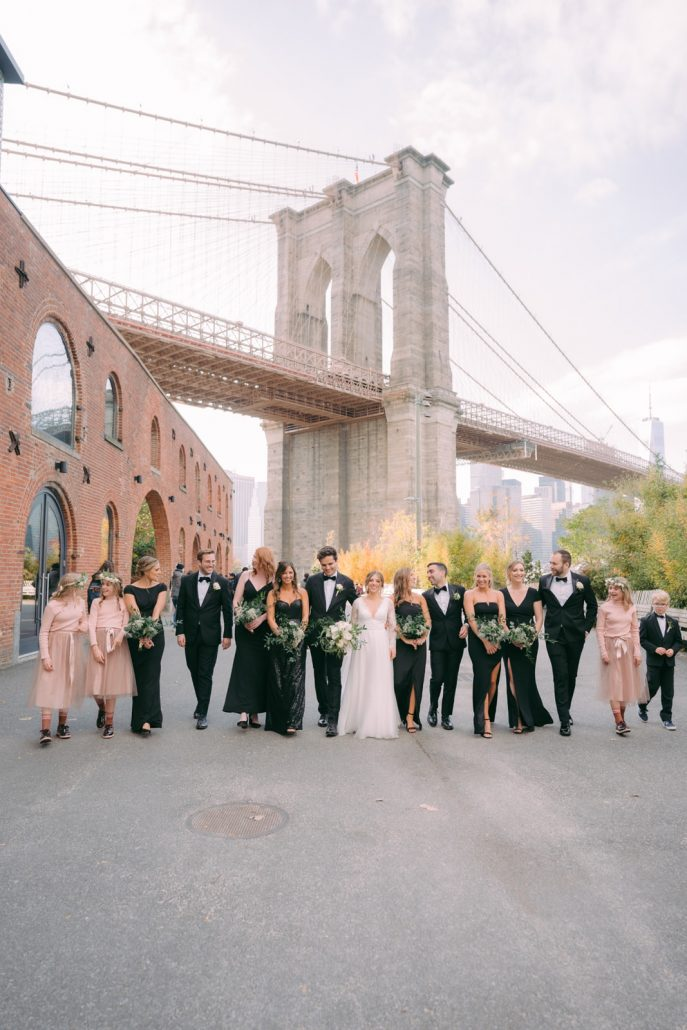 Emily and Felix Wedding - Wedding Party Portrait - 1 Hotel Brooklyn Bridge - Susan Shek Photography