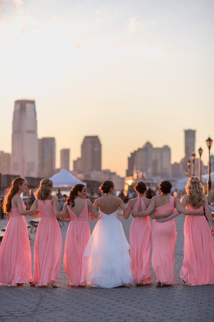 Kate & Alex Wedding - Bridal Party Portrait - Battery Gardens - Susan Shek Photography