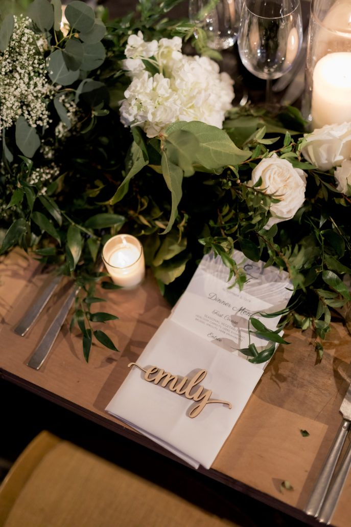Emily and Felix Wedding - Brides Place Setting - 1 Hotel Brooklyn Bridge - Susan Shek Photography