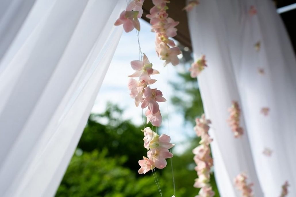 Fanta and Darwin Wedding - Gazebo Hanging Flowers - Stonebridge Country Club - Belluci Films