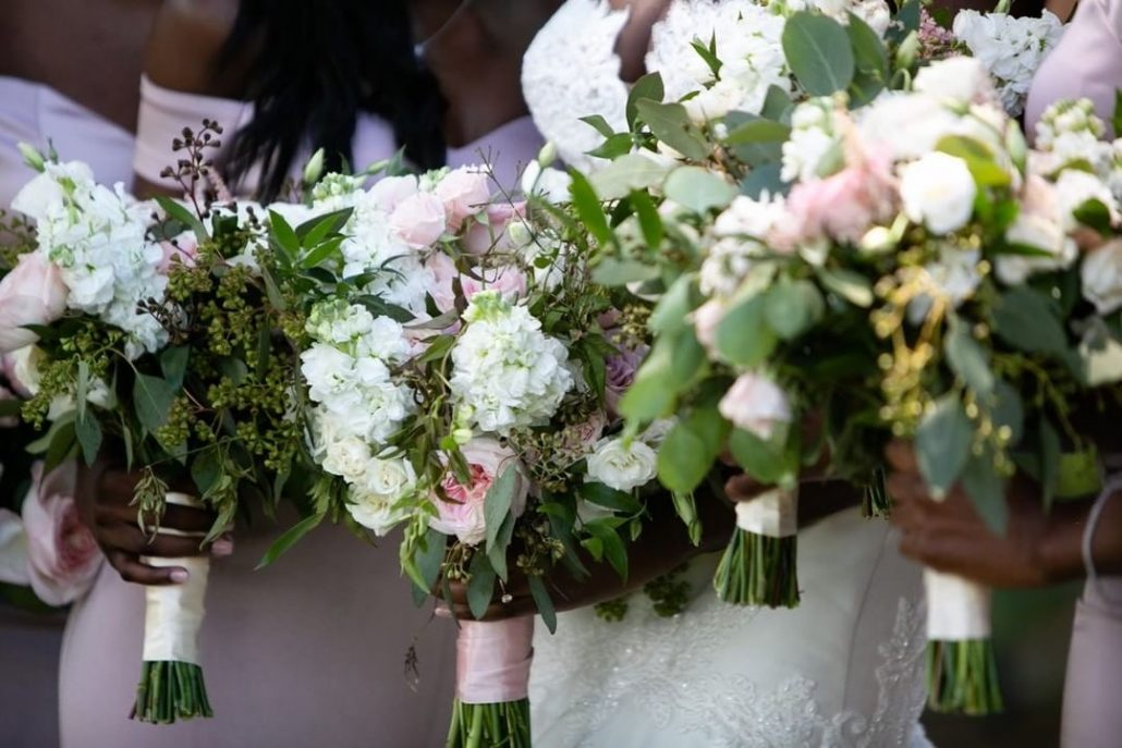 Fanta and Darwin Wedding - Bride and Bridesmaids Bouquets - Stonebridge Country Club - Belluci Films