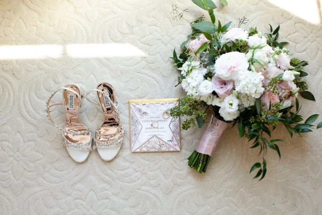 Fanta and Darwin Wedding - Brides Bouquet Shoes Invitations - Stonebridge Country Club - Belluci Films