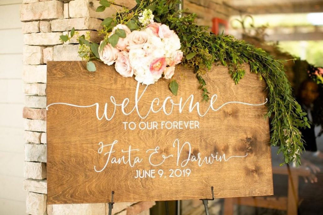 Fanta and Darwin Wedding - Welcome Sign - Stonebridge Country Club - Belluci Films