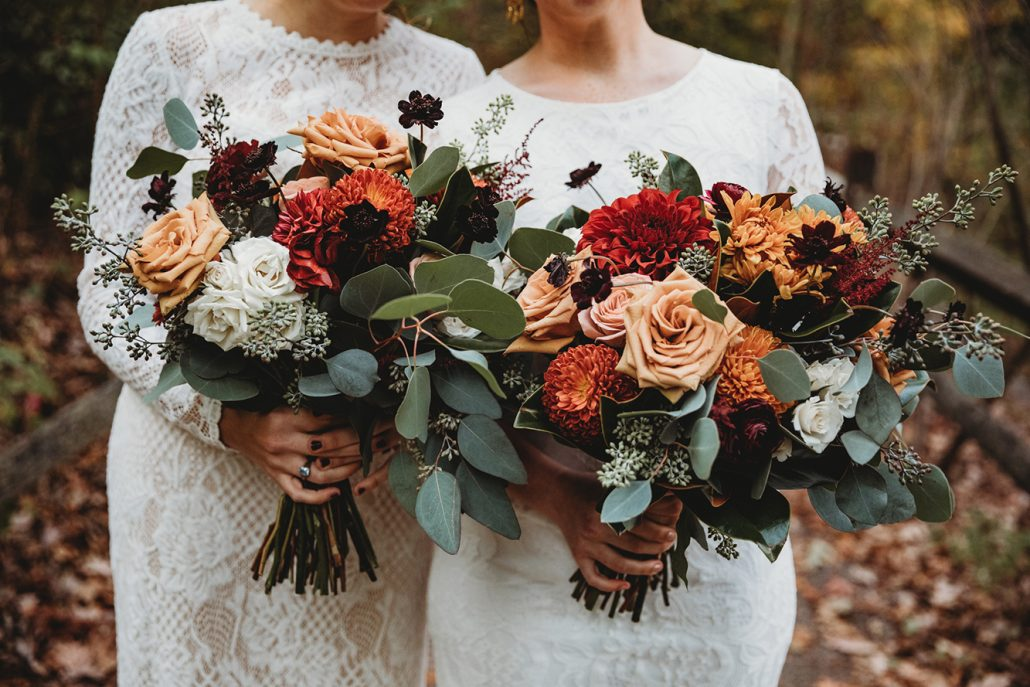 Katie and Kara Wedding - Bridal Bouquet - New York Botanical Garden - Mallory Williams Photography