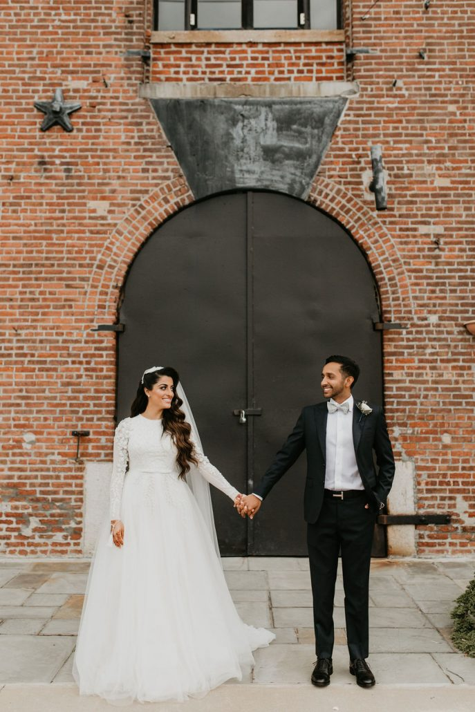 Nailah and Hasan Wedding - Bride and Groom Portrait - Liberty Warehouse - Jenna Cavanaugh Photography