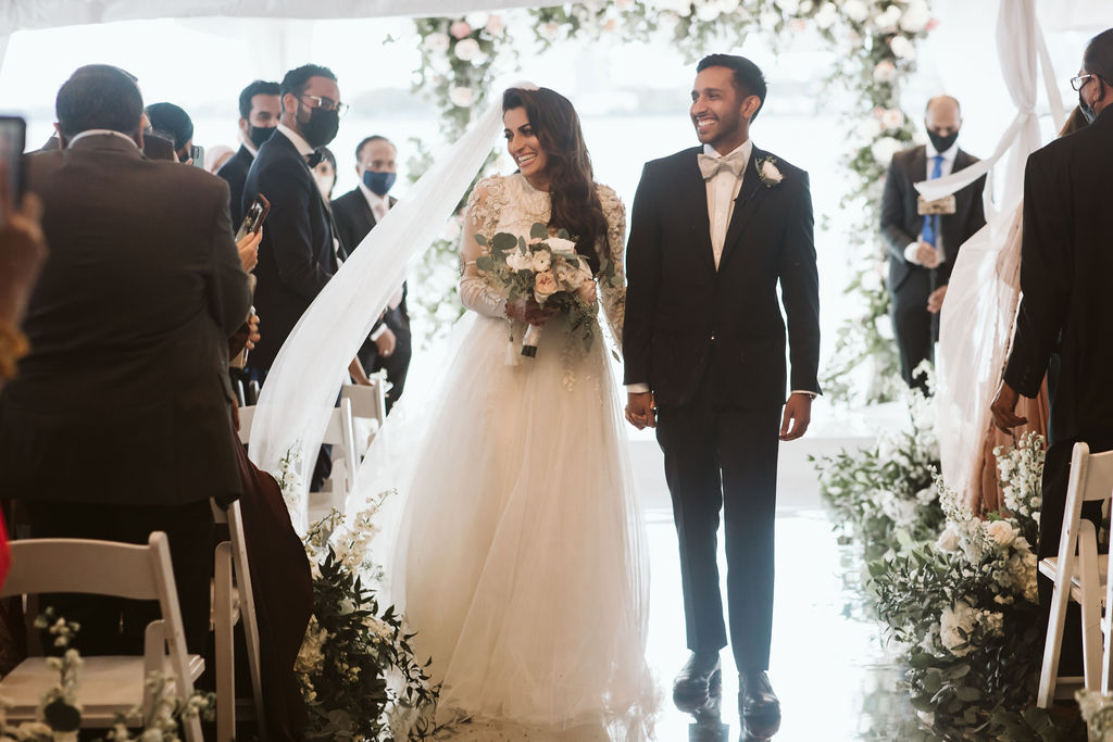 Nailah and Hasan Wedding - Bride and Groom Bouquet - Liberty Warehouse - Jenna Cavanaugh Photography