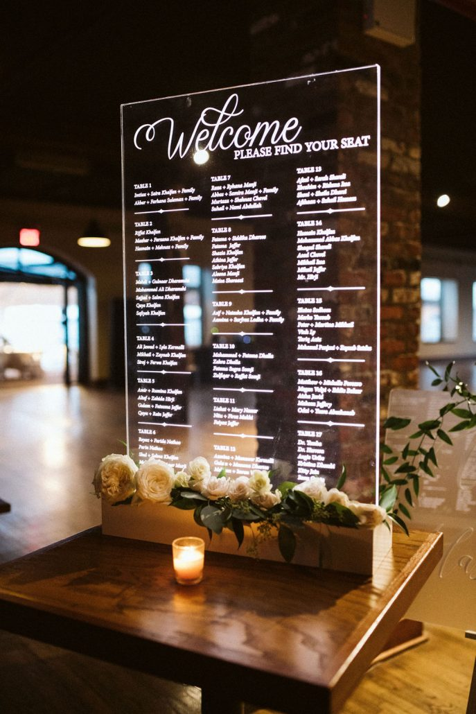 Nailah and Hasan Wedding - Welcome Sign - Liberty Warehouse - Jenna Cavanaugh Photography