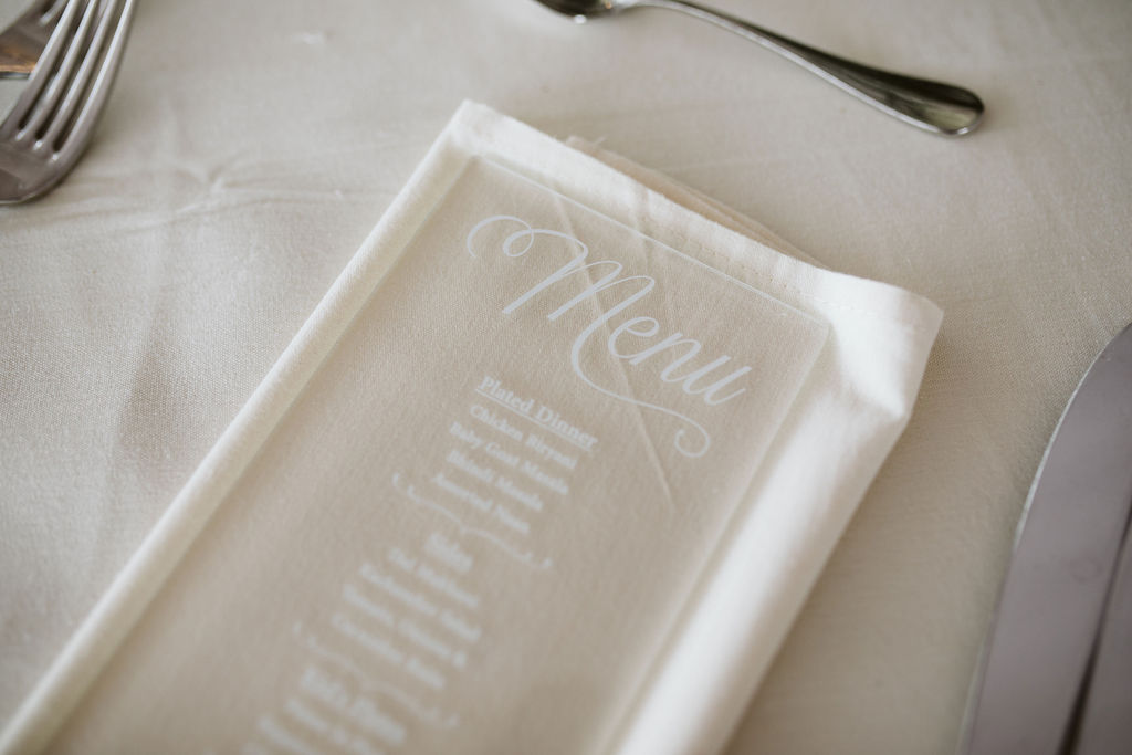 Nailah and Hasan Wedding - Menu - Liberty Warehouse - Jenna Cavanaugh Photography