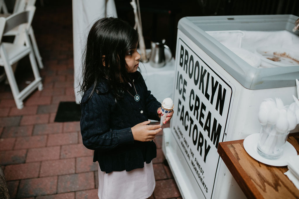 Nailah and Hasan Wedding - Ice Cream Cart - Liberty Warehouse - Jenna Cavanaugh Photography