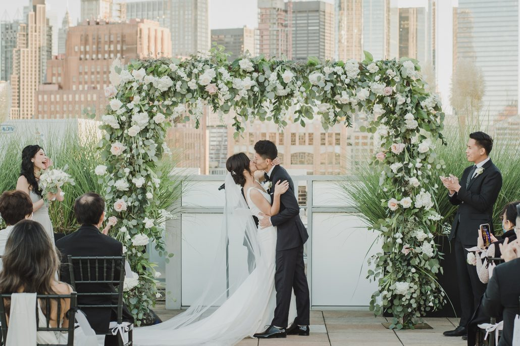 Elaine and LiRen - First Kiss - Tribeca Rooftop - Jaylim Studio