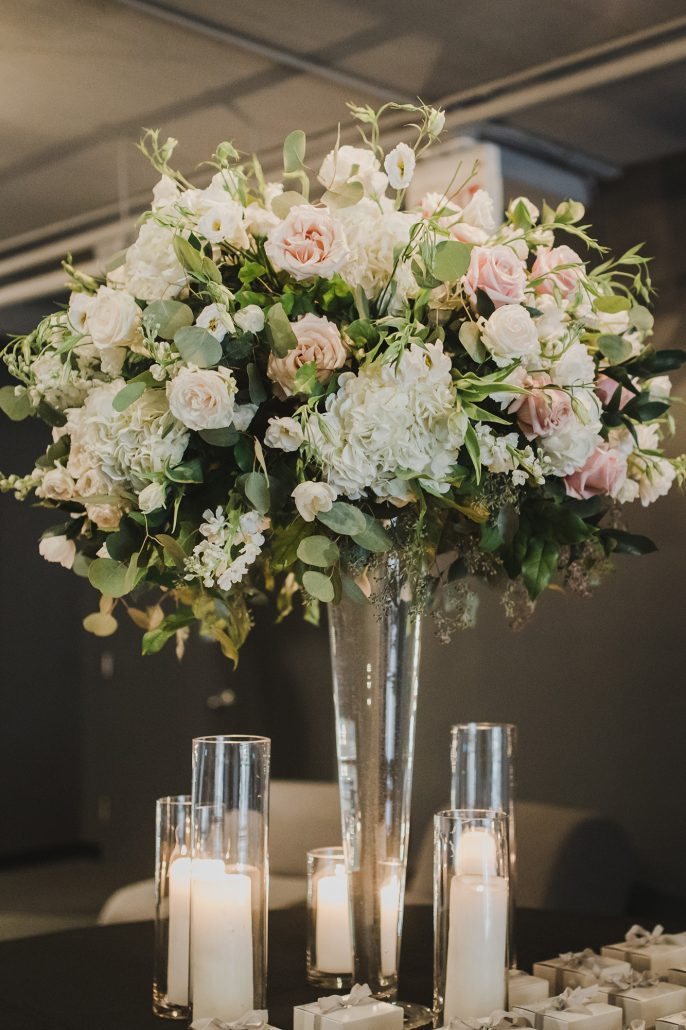 Elaine and LiRen - Card Table High Centerpiece - Tribeca Rooftop - Jaylim Studio